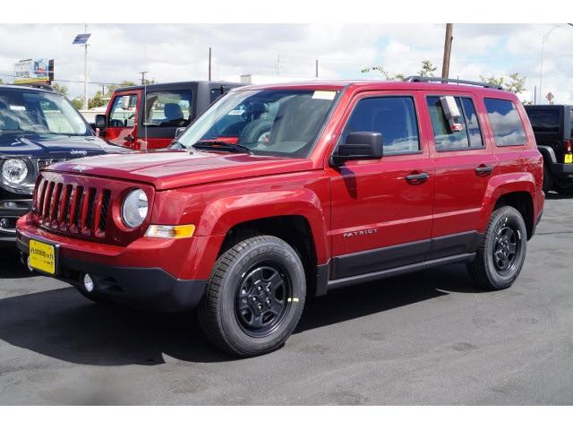 2016 Jeep Patriot Sport Red Price includes 500 - GL MA MW SE SW WE Chrysler Capital 2016 B