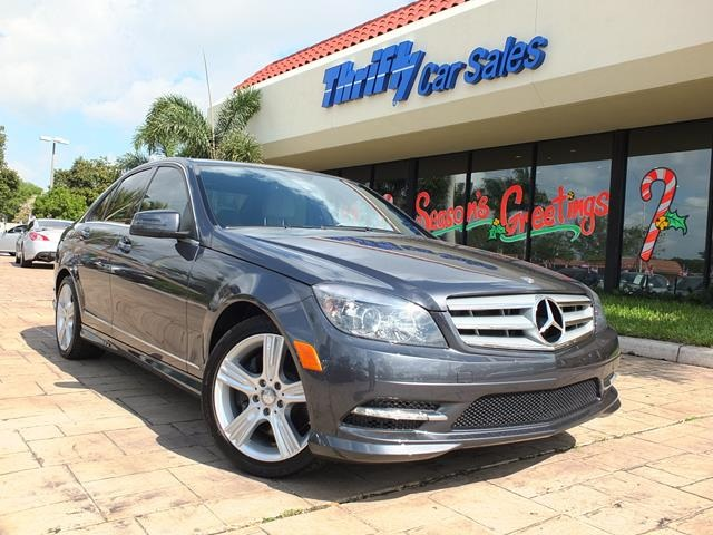 2011 Mercedes-Benz C-Class C350 Gray ACCIDENT FREE CARFAX ONE OWNER LEATHER MOON
