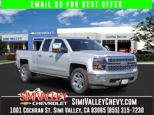 2015 Chevrolet Silverado 1500 LTZ Silver This is a gorgeous Truck Starting with leather wrapped
