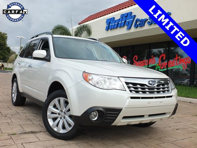 2012 Subaru Forester 25X White ACCIDENT FREE CARFAX ONE OWNER LEATHER MOONROOF