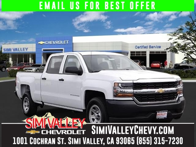 2016 Chevrolet Silverado 1500 White Short Bed Crew Cab NEW ARRIVAL  Who could say no to a si