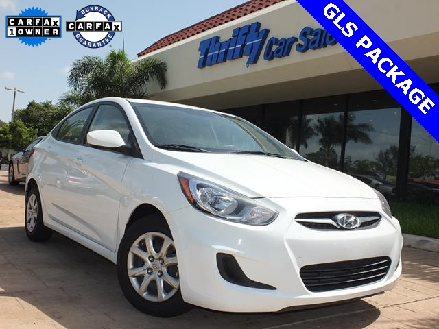 2013 Hyundai Accent GLS White Cloth Hybrid-like fuel savings Positive visibility puts the whole