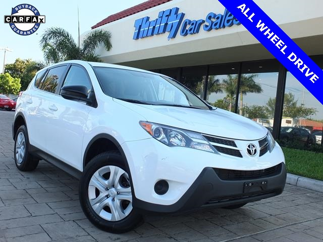 2013 Toyota RAV4 LE White AUTOMATIC and  4WD  Thrifty Certified Certified It will alway