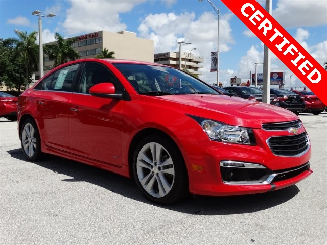 2015 Chevrolet Cruze LTZ Red CLEAN CARFAX ONE OWNER LOW MILES NON-SMOKER CE