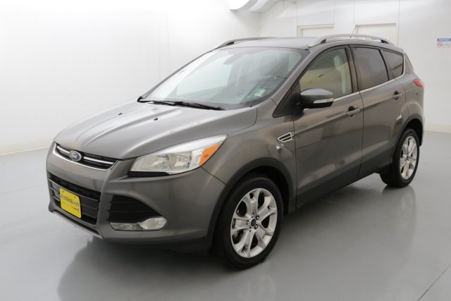 2014 Ford Escape Titanium Gray TITANIUM PACKAGE CLEAN ONE OWNER CARFAX HISTORY REPORT Ford