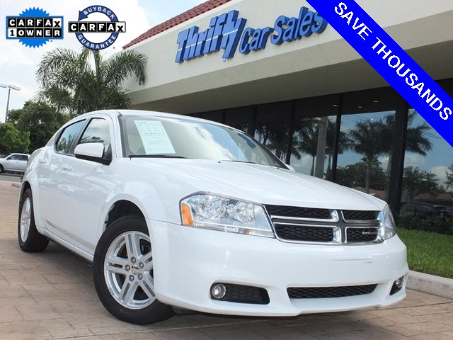 2013 Dodge Avenger SXT White ACCIDENT FREE CARFAX ONE OWNER AUTOMATIC CERTIFIED