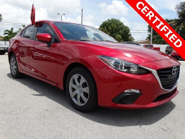 2014 Mazda Mazda3 i Red CLEAN CARFAX ONE OWNER LOW MILES NON-SMOKER CERTIFI