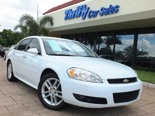 2013 Chevrolet Impala LTZ White LEATHER AUTOMATIC CERTIFIED PRE-OWNED and STILL