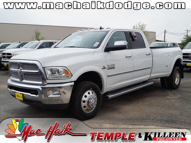 2015 Dodge Ram 3500 Laramie White Stability and traction control are road adaptive Self-stick wi
