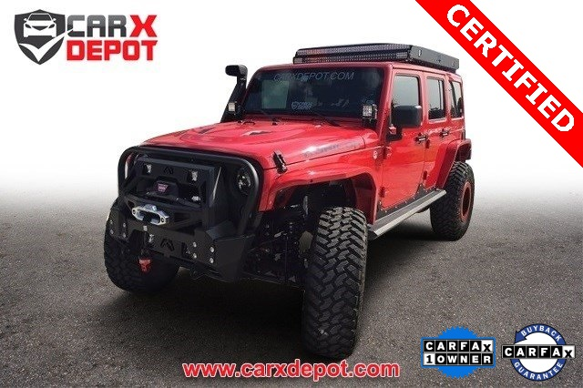 2014 Jeep Wrangler Unlimited Rubicon Red CLEAN CARFAX ONE OWNER LOW MILES NEW TI