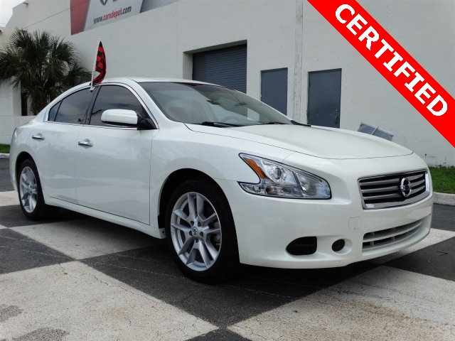 2014 Nissan Maxima 35 S White CLEAN CARFAX ONE OWNER LOW MILES NON-SMOKER