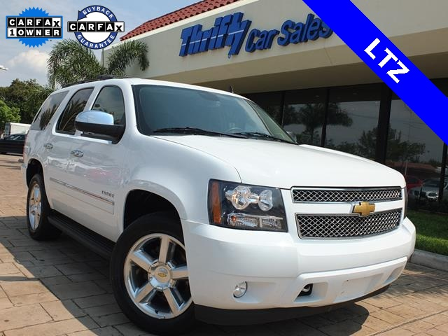 2013 Chevrolet Tahoe LTZ White ACCIDENT FREE CARFAX ONE OWNER LEATHER AUTOMATIC