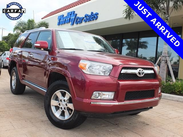 2013 Toyota 4Runner SR5 Red 4WD Cloth ABS brakes Alloy wheels Compass Electronic Stability C