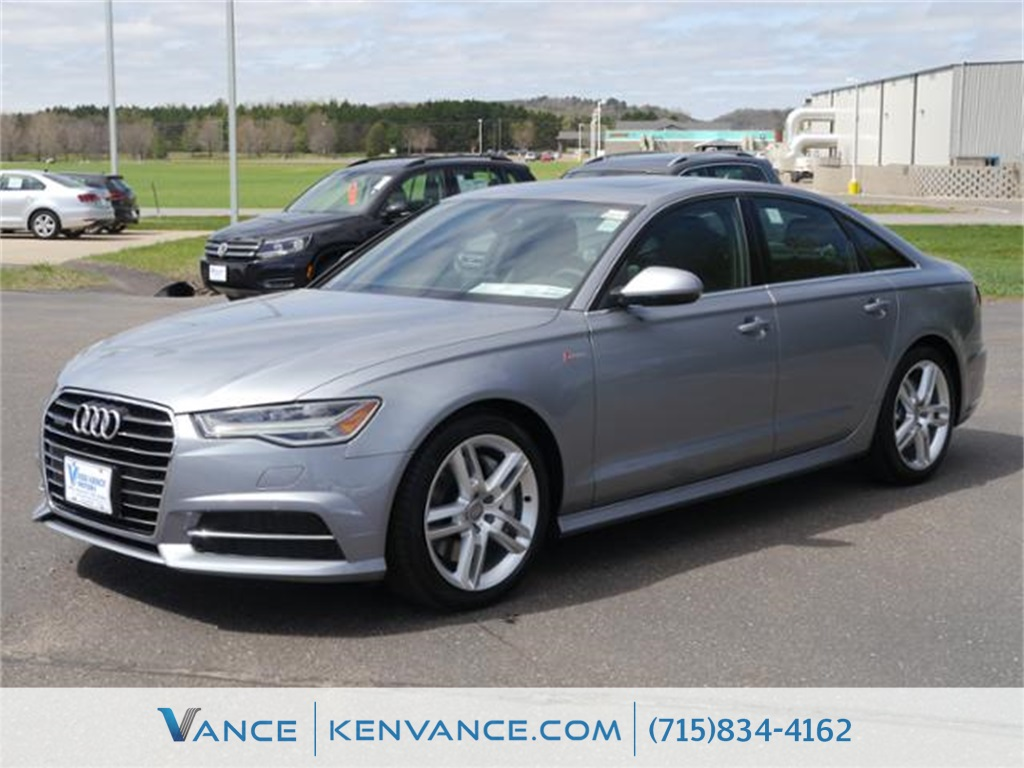 2016 Audi A6 Gray Heated Comfort Front SeatsLeather Seating SurfacesRadio Audi MMI Navigation