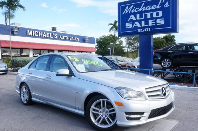 2012 Mercedes-Benz C-Class C250 Silver CLEAN CARFAX 99 POINT SAFETY INSPECTION AUTO