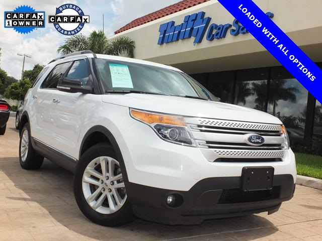 2013 Ford Explorer XLT White AWD Catch a glimpse of everything with expansive visibility Free r