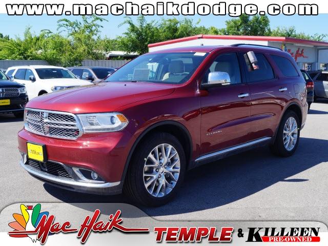 2015 Dodge Durango Citadel Red Price includes 750 - SW Retail Consumer Cash  63C1 Exp 0803