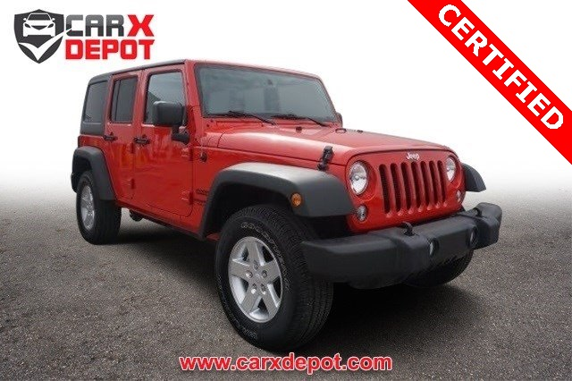 2015 Jeep Wrangler Unlimited Sport Red CLEAN CARFAX ONE OWNER LOW MILES NON-SMOK