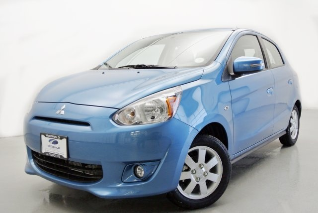 2015 Mitsubishi Mirage ES Blue 14 Alloy WheelsFront Bucket SeatsSport Fabric Seating SurfacesA