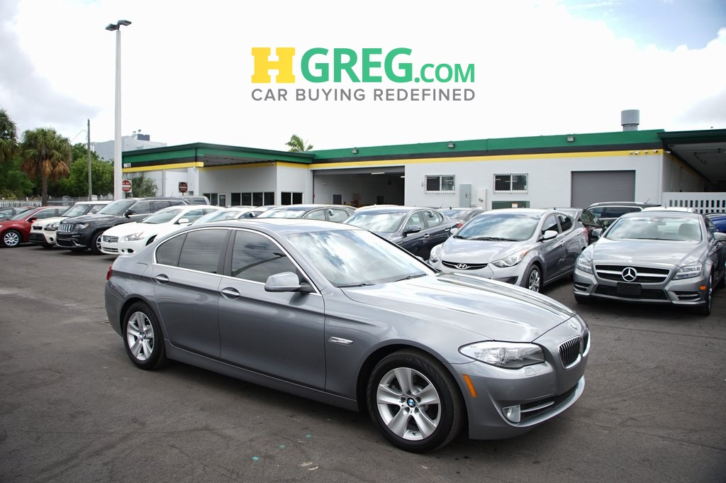 2013 BMW 5 Series 528i Gray CLEAN CARFAX Great Easy Financing Terms for all Credits