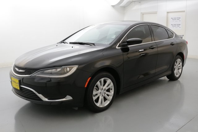 2015 Chrysler 200 Limited Black CERTIFIED PRE-OWNED CLEAN ONE OWNER CARFAX HISTORY REPORT