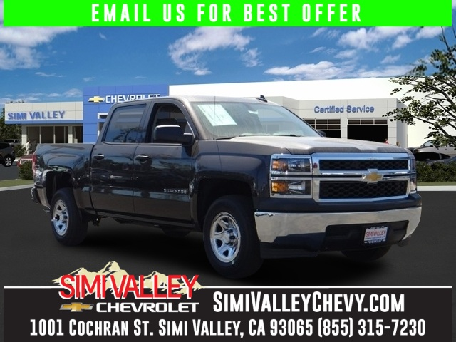 2015 Chevrolet Silverado 1500 LS Gray 2015 Silverado Crew cab in tungsten at a Simi Valley Discou