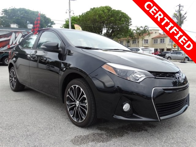 2016 Toyota Corolla S Black CLEAN CARFAX ONE OWNER LOW MILES NON-SMOKER CER
