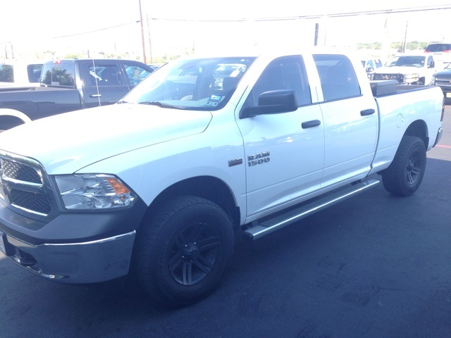 2013 Dodge Ram 1500 Tradesman White 4 WHEEL DRIVE AFTERMARKET WHEELS AND TIRES Clean one o